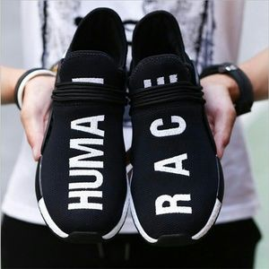 Black Human Race Sneakers